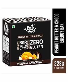 Eat Anytime Peanut Butter & Chocolate Snack Bars Pack of 6 - 228 grams Total