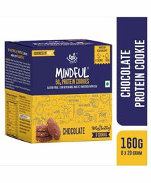 Eat Anytime Gluten Free Chocolate Protein Cookies Pack of 8 - 160 grams Total
