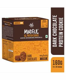 Eat Anytime Gluten Free Dark Chocolate Protein Cookies Pack of 8 - 160 grams Total