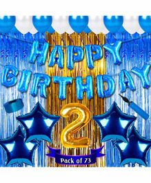 Shopperskart Second Birthday Balloon Kit Blue - Pack of 73