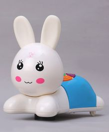 Bunny Shaped Musical Toy with Lights - White Blue