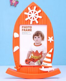Ship Shape Photo Frame - Orange
