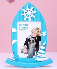 Ship Shape Photo Frame - Blue