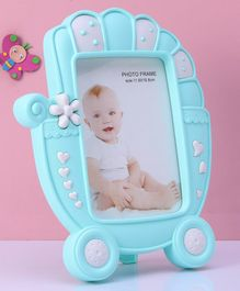 Stroller Shaped Photo Frame - Blue