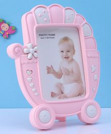 Stroller Shaped Photo Frame - Pink