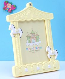 Castle Shaped Photo Frame - Yellow