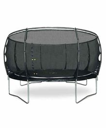 Plum Magnitude Trampoline with Net - Black