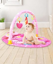 Play Mat with Toy Bar Elephant Print - Pink