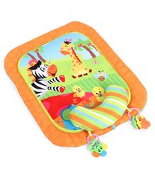 Baby Play Mat with Pillow Animal Print - Orange