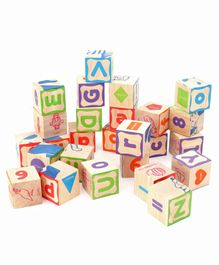 Giggles Wooden Info Cubes Set Multicolor - 26 Pieces