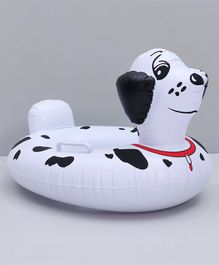 Inflatable Spot Dig Floating Baby Seat Ring - White & Black