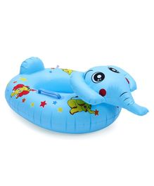 Inflatable Elephant Floating Baby Seat Ring - Blue