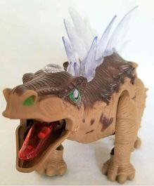 Fiddlerz Stegosaurus Figure with Lights and Sound - Length 37 cm(Colour May Vary)