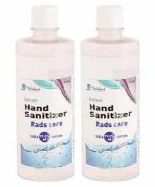 Yellowbee Rads Care Alcohol Based Instant Hand Sanitizer Pack of 2 - 500 ml Each