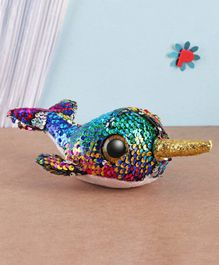 Ty Toy Narwhal Flippable Soft Toy Multicolor - Height 7.5 cm