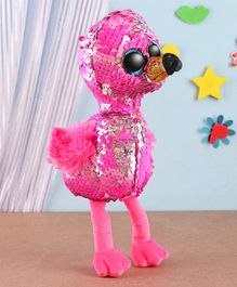 Ty Toy Pinky Flippable Flamingo Soft Toy Pink - Height 14 cm