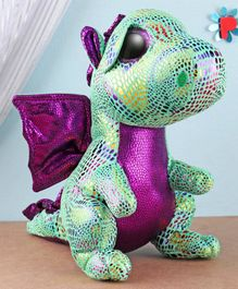 Ty Toy Cinder Dragon Soft Toy Green - Height 23.5 cm