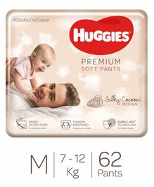 Huggies Premium Soft Pants Medium Size Diapers - 62 Pieces