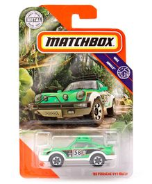 Match Box 85 Porsche 911 Die Cast Free Wheel Car - Green