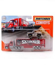 Matchbox Die Cast Free Wheel Lonestar Cab Truck & Ford Bronco Car - Red Black