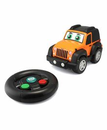 BB Junior Play & Go Ferrari My First Remote Control Wrangler Jeep - Black Orange