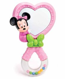 Clementoni Baby Minnie Mouse Mirror Rattle - Pink White