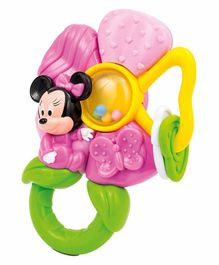Clementoni Baby Minnie Mouse Flower Rattle Teether - Multicolor