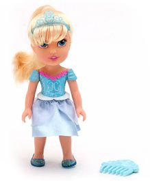 Jakks Pacific Cinderella Doll with Hair Comb Blue - Height 19 cm