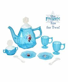 Jakks Pacific Disney Frozen Snowflake Shimmer Tea Set Blue - 10 Pieces