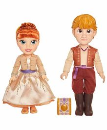 Jakks Pacific Anna & Kristoff Dolls  Set Multicolor- Height 16 cm