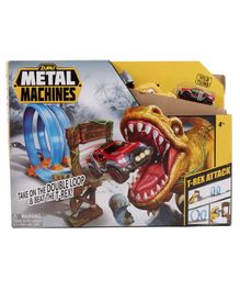 Metal Machines T-Red Attack Building Trackset with Mini Racing Car - Multicolor