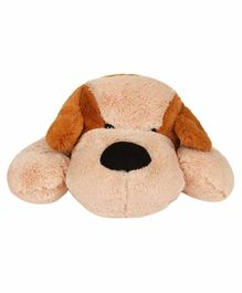 Qingdao Laying Dog Soft Toy Cream Brown - Height  26 cm