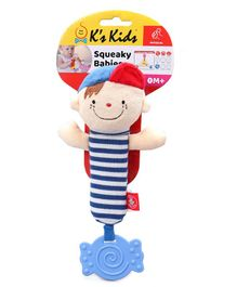 K'S Kids Squeaky Rattle Toy - Blue