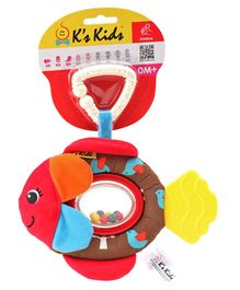 K'S Kids Flippo Clip On Rattle with Beads - Multicolor