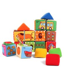 K'S Kids Plush Stacking Blocks Multicolor - 17 Pieces