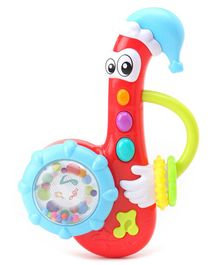 K'S Kids Musical Saxophone Rattle with Music & Lights - Multicolor