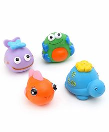 K's Kids Squeeze Bath Toys Set of 4 - Multicolor
