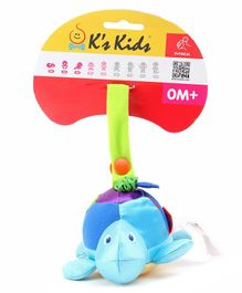 K'S Kids Little Turtle Clip On Rattle Toy - Blue