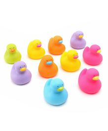K'S Kids Colorful Bathing Duck Pack of 10 - Multicolor