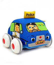K's Kids Pull Back Soft Toy Car - Multicolor