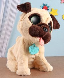 Furreal Jumping Pug Soft Toy Cream - Height 22.5 cm