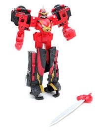 Power Rangers Convertible Beast Morphers Action Figure Red - Height 24.5 cm