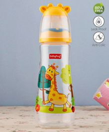 Babyhug Feeding Bottle 3D Cap Design Yellow - 250 ml