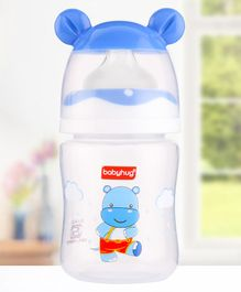 Babyhug Feeding Bottle 3D Cap Design Blue - 125 ml