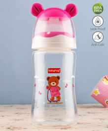 Babyhug Feeding Bottle 3D Cap Design Pink - 250 ml