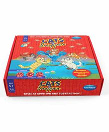 Navneet Cats N Snapper Board Game - Red