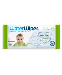 WaterWipes Baby Wipes With Soapberry - 60 pieces