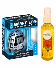 Smart Egg Labyrinth Puzzle & Organic Magic Hand Sanitizer - Multicolor