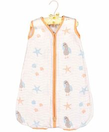 Ooka Baby Double Layered Muslin Sleeping Bag in Seahorse Print (M)