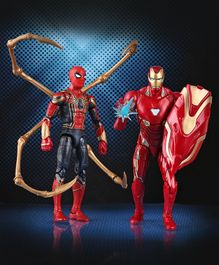 Marvel Iron Man Mark 50 & Iron Spider Figure with Accessories - 15 cm